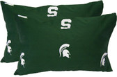 Michigan State Printed Pillow Case - (Set of 2) - Solid