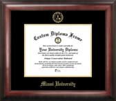 Miami University Ohio Gold Embossed Medallion Diploma Frame