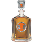 Miami Hurricanes Capitol Decanter