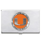 Miami Hurricanes Business Card Case Set