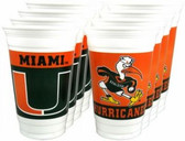Miami Hurricanes 20 oz. Cups