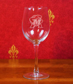 Maryland Terrapins Deep Etched White Wine Glass