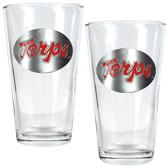 Maryland Terrapins 2pc Pint Ale Glass Set