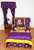 LSU Bed in a Bag Queen - With Team Colored Sheets