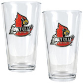 Louisville Cardinals 2pc Pint Ale Glass Set