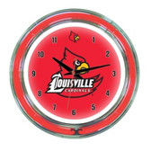 "Louisville Cardinals 14"" Neon Wall Clock"