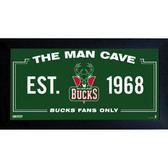 Milwaukee Bucks Man Cave Sign 6x12 Framed Photo