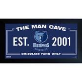 Memphis Grizzlies Man Cave Sign 6x12 Framed Photo