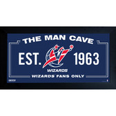 Washington Wizards Man Cave Sign 10x20 Framed Photo