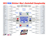 Duke Blue Devils 2015 NCAA Men's College Basketball National Champions Bracket 40x50 Stretched Canvas