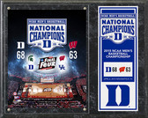 "Duke Blue Devils 2015 NCAA Men's College Basketball National Champions Composite Plaque 15""x12"""