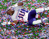 New England Patriots Duron Harmon Super Bowl XLIX Celebration 40x50 Stretched Canvas