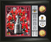 "Chicago Blackhawks 2015 Stanley Cup Champions ""Banner"" Gold Coin Photo Mint"
