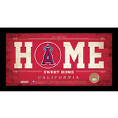 Los Angeles Angels 6x12 Home Sweet Home Sign with Game-Used Dirt from Angel Stadium of Anaheim