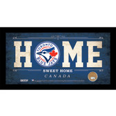 Toronto Blue Jays 6x12 Home Sweet Home Sign with Game-Used Dirt from Rogers Centre