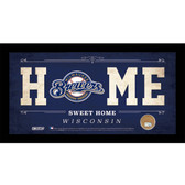 Milwaukee Brewers 6x12 Home Sweet Home Sign with Game-Used Dirt from Miller Park