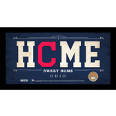 Cleveland Indians 6x12 Home Sweet Home Sign with Game-Used Dirt from Progressive Field