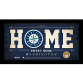 Seattle Mariners 6x12 Home Sweet Home Sign with Game-Used Dirt from Safeco Field