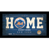 New York Mets 6x12 Home Sweet Home Sign with Game-Used Dirt from Citi Field