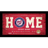 Washington Nationals 6x12 Home Sweet Home Sign with Game-Used Dirt from Nationals Park