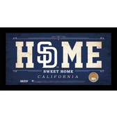 San Diego Padres 6x12 Home Sweet Home Sign with Game-Used Dirt from Petco Park