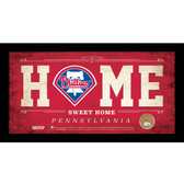 Philadelphia Phillies 6x12 Home Sweet Home Sign with Game-Used Dirt from Citizens Bank Park
