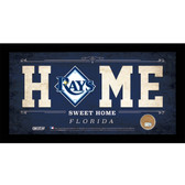 Tampa Bay Rays 6x12 Home Sweet Home Sign with Game-Used Dirt from Tropicana Field