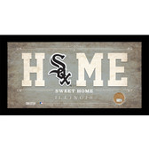 Chicago White Sox 6x12 Home Sweet Home Sign with Game-Used Dirt from U.S. Cellular Field