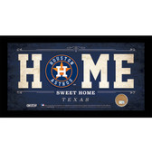 Houston Astros 10x20 Home Sweet Home Sign with Game-Used Dirt from Minute Maid Park