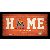Miami Marlins 10x20 Home Sweet Home Sign with Game-Used Dirt from Marlins Park