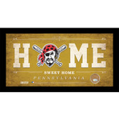 Pittsburgh Pirates 10x20 Home Sweet Home Sign with Game-Used Dirt from PNC Park