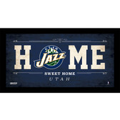 Utah Jazz 6x12 Home Sweet Home Sign