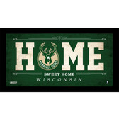 Milwaukee Bucks 10x20 Home Sweet Home Sign