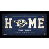 Nashville Predators 6x12 Home Sweet Home Sign