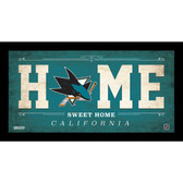 San Jose Sharks 6x12 Home Sweet Home Sign