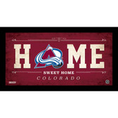 Colorado Avalanche 6x12 Home Sweet Home Sign