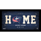 Columbus Blue Jackets 6x12 Home Sweet Home Sign