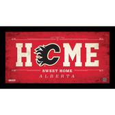 Calgary Flames 10x20 Home Sweet Home Sign