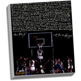 Houston Rockets Elvin Hayes Facsimile  Being Big E Story Stretched  16x20 Story Canvas