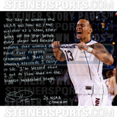 Connecticut Huskies Shabazz Napier Facsimile NCAA Champs Stretched  16x20 Story Canvas