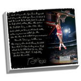Atlanta Hawks Spud Webb Facsimile  Slam Dunk Contest Story Stretched  16x20 Story Canvas