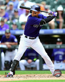Colorado Rockies Carlos Gonzalez 16x20 Stretched Canvas