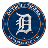 """Detroit Tigers 19x19"""" Round Wood Sign"""