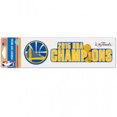 "Golden State Warriors 3x10"" Color Perfect Cut Decal - 2015 Champs"
