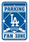 Los Angeles Dodgers 12x18 Plastic Fan Zone Sign