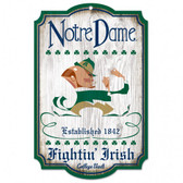 "Notre Dame Fighting Irish 11""x17"" - College Vault - Leprechaun Logo"
