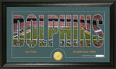 "Miami Dolphins ""Silhouette"" Bronze Coin Panoramic Photo Mint"