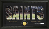 "New Orleans Saints ""Silhouette"" Bronze Coin Panoramic Photo Mint"