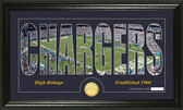 "San Diego Chargers ""Silhouette"" Bronze Coin Panoramic Photo Mint"