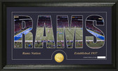 "St. Louis Rams ""Silhouette"" Bronze Coin Panoramic Photo Mint"